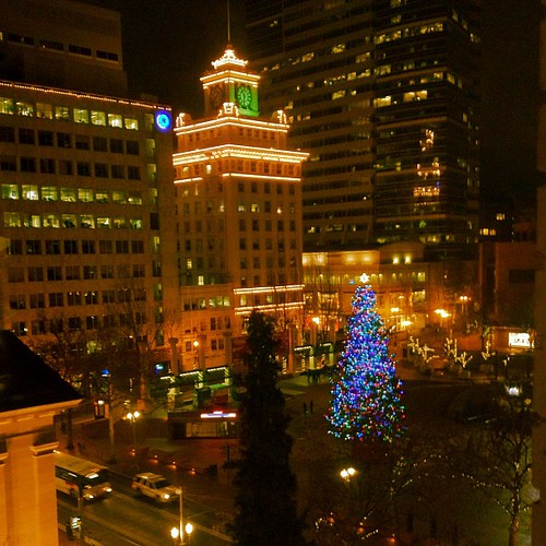 Portland Holiday / Christmas Tree in Pioneer Square