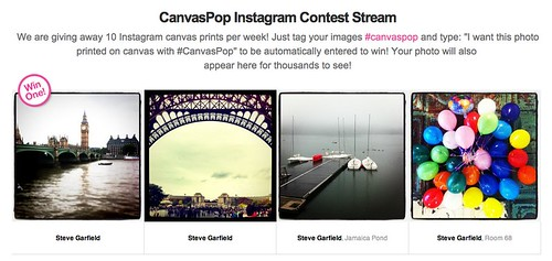CanvasPop Instagram Contest Stream by stevegarfield