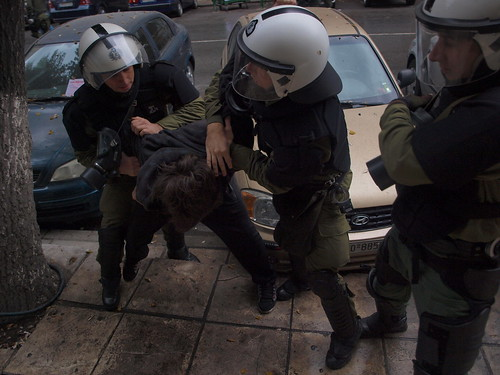 Greek riot police grab teenager during demonstration - Thessaloniki by Teacher Dude's BBQ