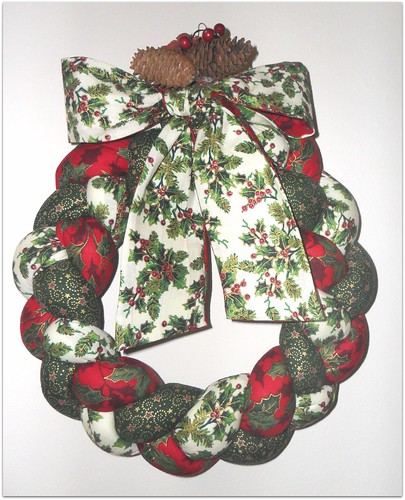 Coroa Natal entrançada by Fuxiquices-da-isa