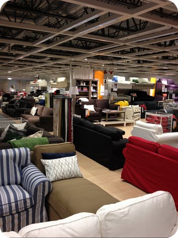 Couches as far as the eye can see