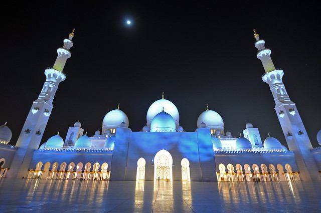 Night at Sheikh Zayed Grand Mosque!