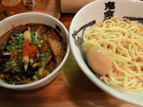ra111202カラシビつけ麺 鬼金棒 カラシビつけ麺中盛味玉