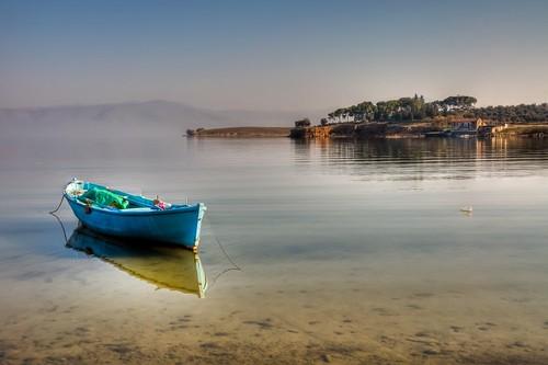 Blue Boat by Nejdet Düzen