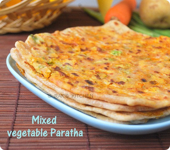 Mixed veg paratha recipe - Raks Kitchen