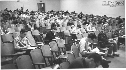 Taking an exam, early 1960s / soft skills
