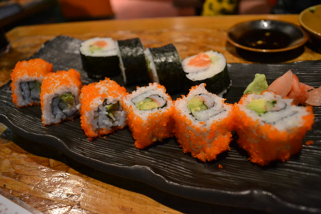 California Maki and Salmon Avocado Maki at En Japanese Dining Bar