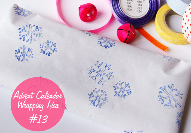 Advent Calendar Wrapping Idea #13