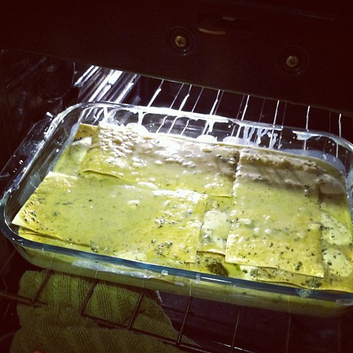 Pesto lasagna. Another Italian grandmothers recipe... Can. Not. Wait.