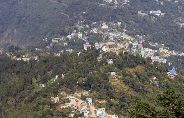 Namchi from opposite Hill