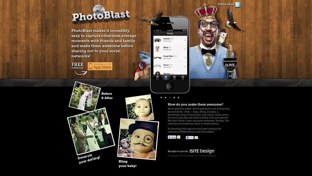 Creative for PhotBlast App for desktop