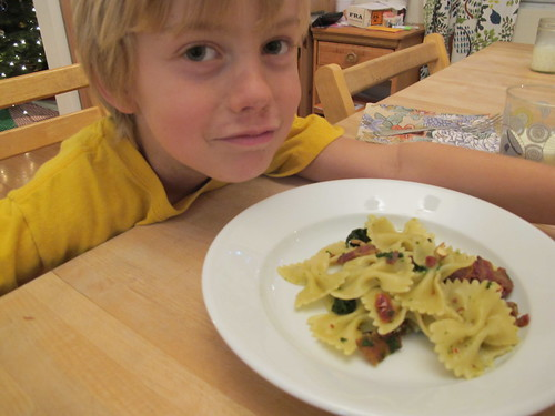 butterfly pasta with kale from 'the family dinner'