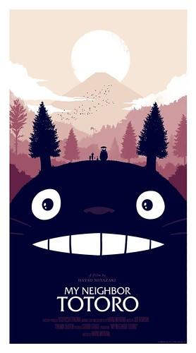 Olly Moss My Neighbor Totoro