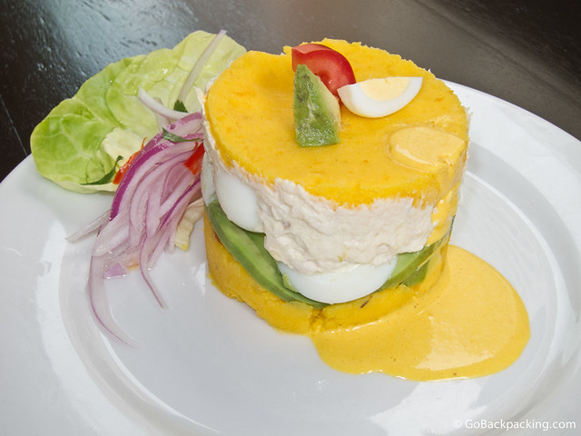 Causa Limena at T'anta restaurant