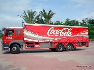 Coca-Cola truck at Hong Kong Disneyland