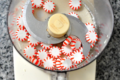 Peppermint Sandwich Cookies with Candy Cane Bits