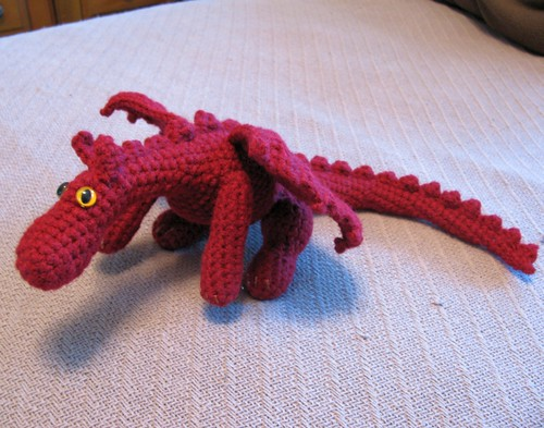 Red dragon plushie