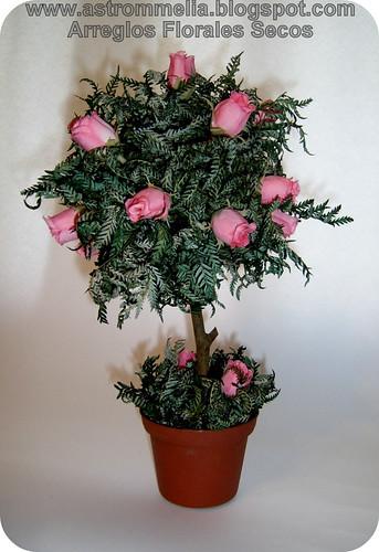 Astrommelia topiario 2 flores secas y artificiales - Arreglos florales con flores secas ...