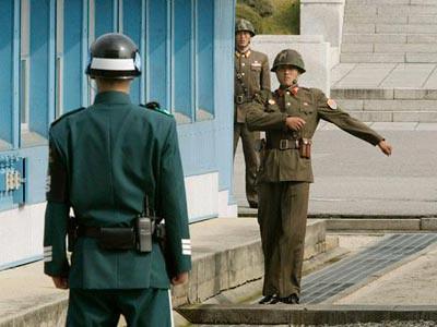 Pos kawalan sempadan antara Korea Utara dan Korea Selatan
