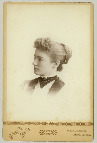 Cabinet Card Portrait young woman
