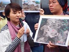 郭靜雯說明黃金海渡假村將蓋在4000年的史前遺跡上