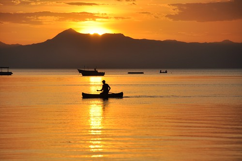 Lake Malawi at sunset