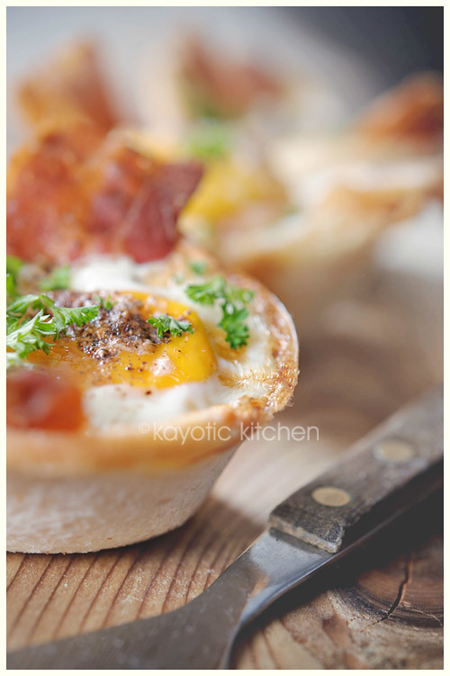 Eggs, Bacon & Toast Cups
