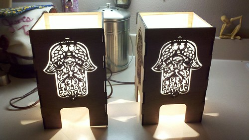 Louise's Lasercut Lamps