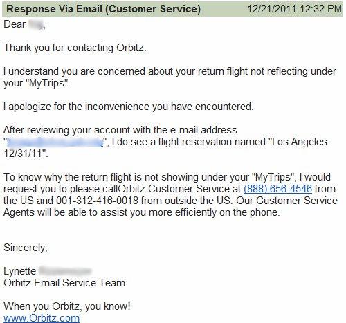 Orbitz Customer Service 4
