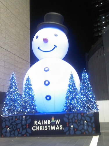 Snowman in JR Osaka Station concourse