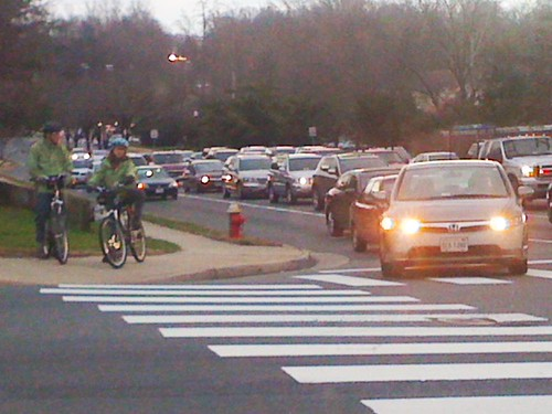 Bicyclist Heroes, Route 50 & Pickett Road, Fairfax, Va.