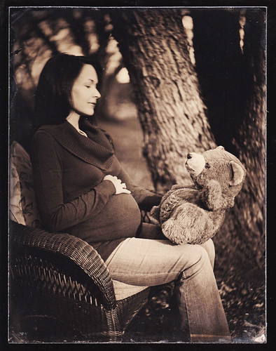 Nashville tintype photography portrait pregnancy baby