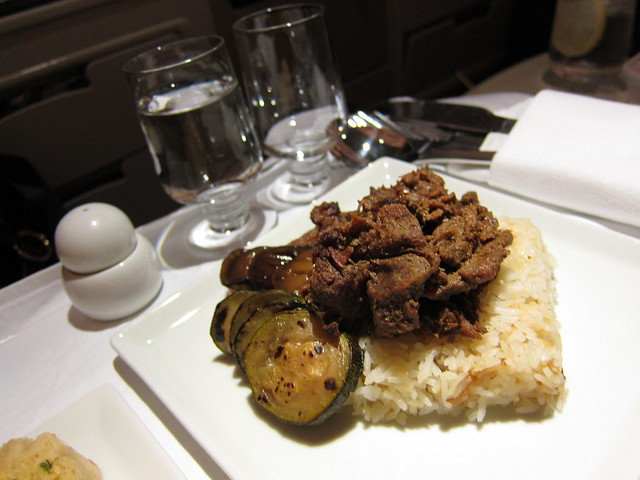 Grilled beef tapa, Singapore Airlines