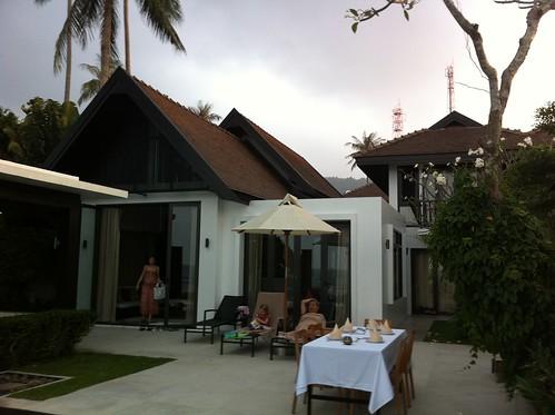 BBQ at our villa on Koh Samui