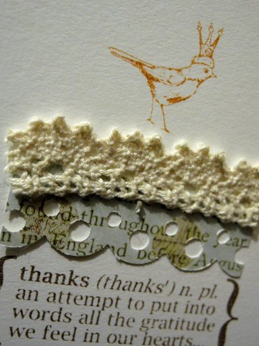 Thanks (detail)