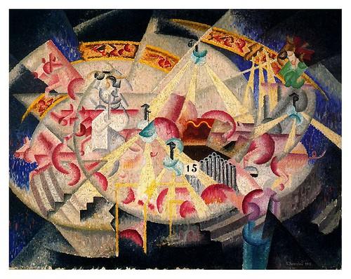 015-Fiesta en Montmartre-Carrusel 1913- Gino Severini