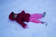 freezing(0.0), sled(0.0), footwear(1.0), winter(1.0), snow angel(1.0), snow(1.0), blizzard(1.0), pink(1.0),