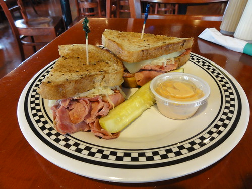 Reuben sandwich at the Lucky Dill Deli