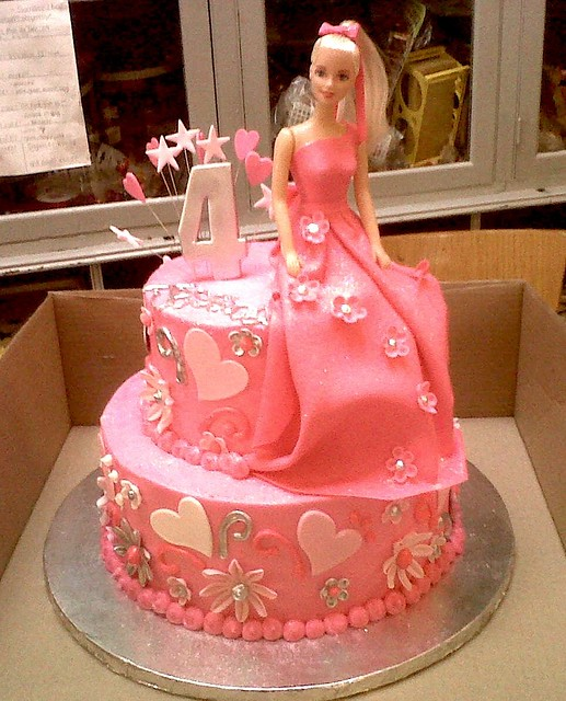 2 Tier Wicked Chocolate Cake Iced In Pink Butter Icing