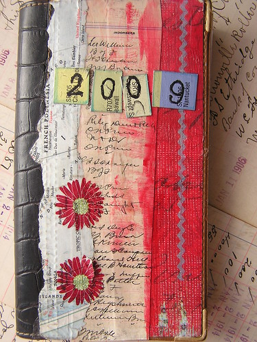 Altered Pocket Calender - my collage covers advertising originally on the the mini-calender
