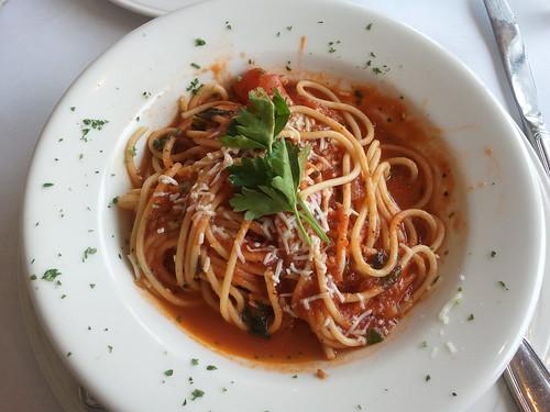 Spaghetti at Paradiso Trattoria