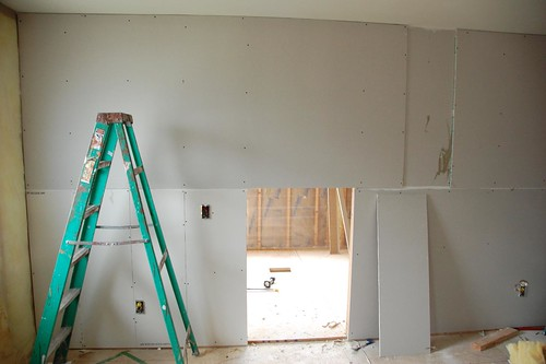 Drywalln in the house tonight 3 acres 3000 square feet for Bathroom drywall code