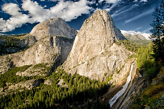 Liberty Cap, Nevada Falls and Halfdome