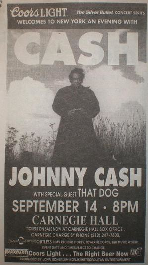 Johnny Cash Poster from Carnegie Hall Performance
