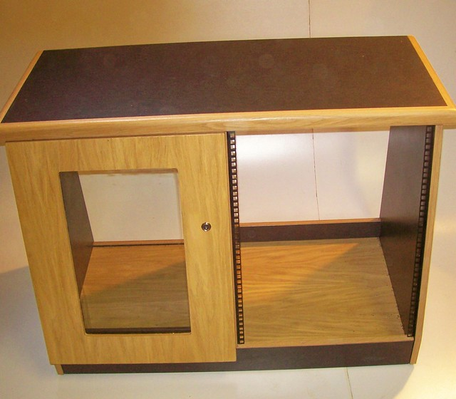 2 Bay Rack In Oak Veneer With Black Trim Uk Recording Studio Furniture Flickr Photo Sharing
