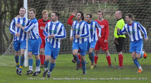 Cliffe FC 2ndXI 5 - 1 Tadcaster Magnets Reserves 7Jan12