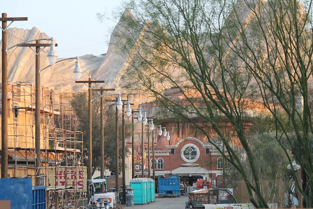 Progress on Cars Land - 1/7/12