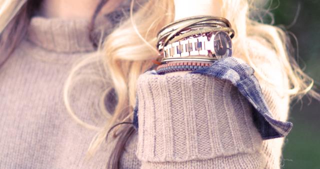 watch+bracelets+ arm -kenneth cole watch