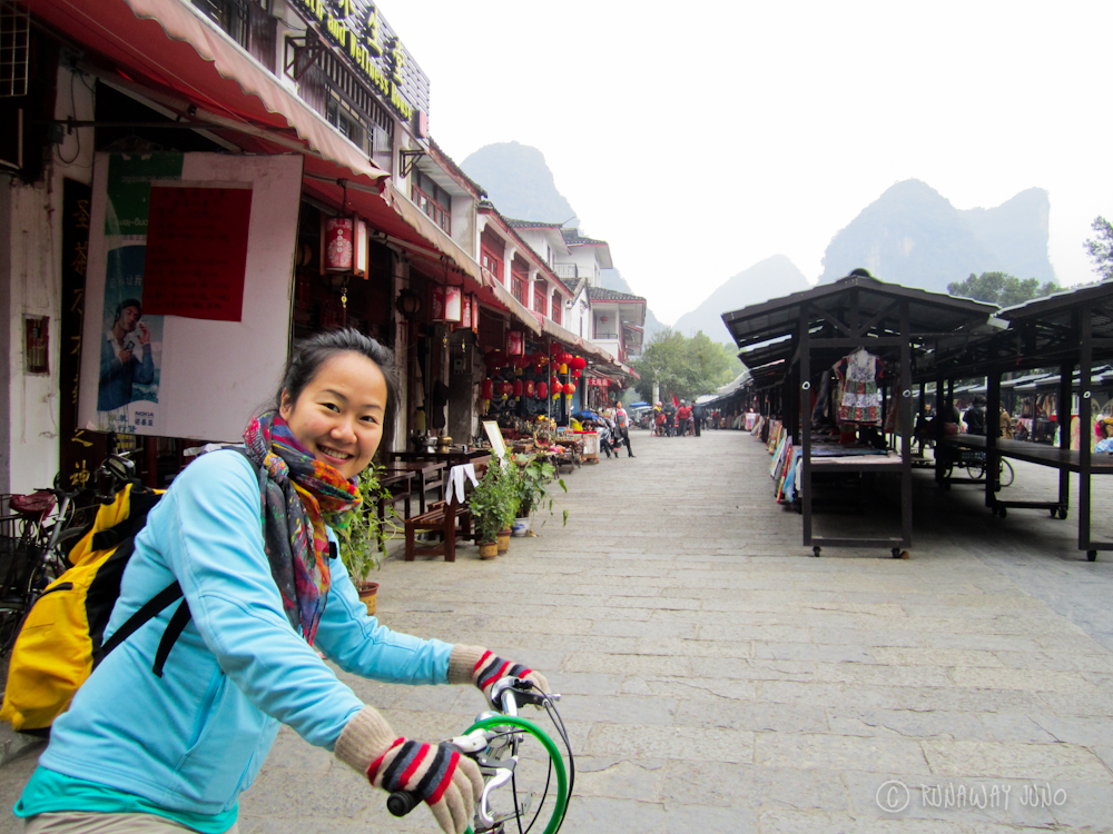 Biking to Yulong River