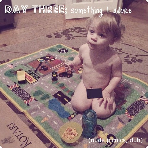 something I adore: nude picnics. #janphotoaday